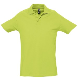 Рубашка поло мужская SPRING 210, зеленое яблоко