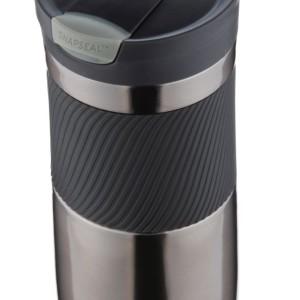 Термостакан Byron, вакуумный, герметичный, серо-стальной