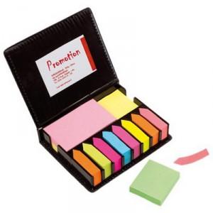 Набор разноцветных стикеров в твёрдом футляре