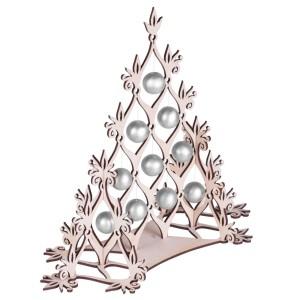 Сборная елка «Новогодний ажур», с серебристыми шариками