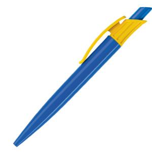 Ручка шариковая, пластик, синий/желтый Gladiator
