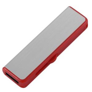 Флешка Ferrum, серебристая с красным, 8 Гб