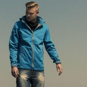Куртка софтшелл мужская SKYRUNNING, темно-синяя