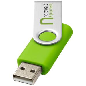 """USB-флешка на 16 Гб """"Rotate Basic"""", лайм"""