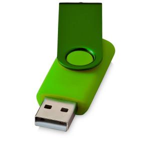 """Флеш-карта """"Rotate Metallic"""" USB 2.0 на 2 Gb, лайм"""