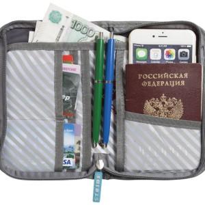 Органайзер для путешествий Prestwick RFID, серый