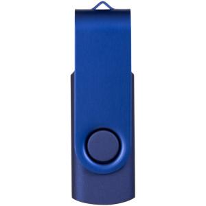 """Флеш-карта """"Rotate Metallic"""" USB 2.0 на 2 Gb, темно-синий"""