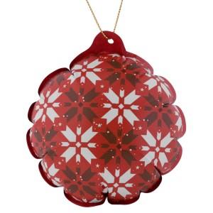 Новогодний самонадувающийся шарик «Скандик», красный
