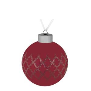 Елочный шар King, 8 см, красный