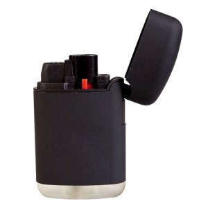 Зажигалка Zenga, турбо, многоразовая, черная