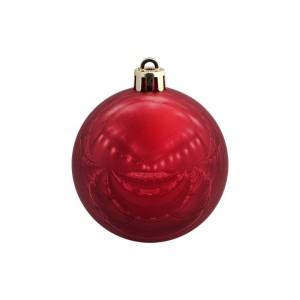 Елочный шар Shiny Smooth 6, красный