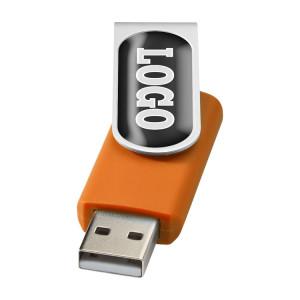 """Флеш-карта """"Rotate doming"""" USB 2.0 на 2 Гб, оранжевый"""
