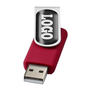 """Флеш-карта """"Rotate doming"""" USB 2.0 на 2 Гб, красный"""