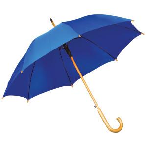 Зонт-трость с деревянной ручкой, полуавтомат