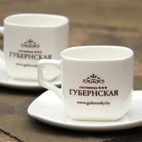 Печать в 1 цвет на фарфоровых чайных парах